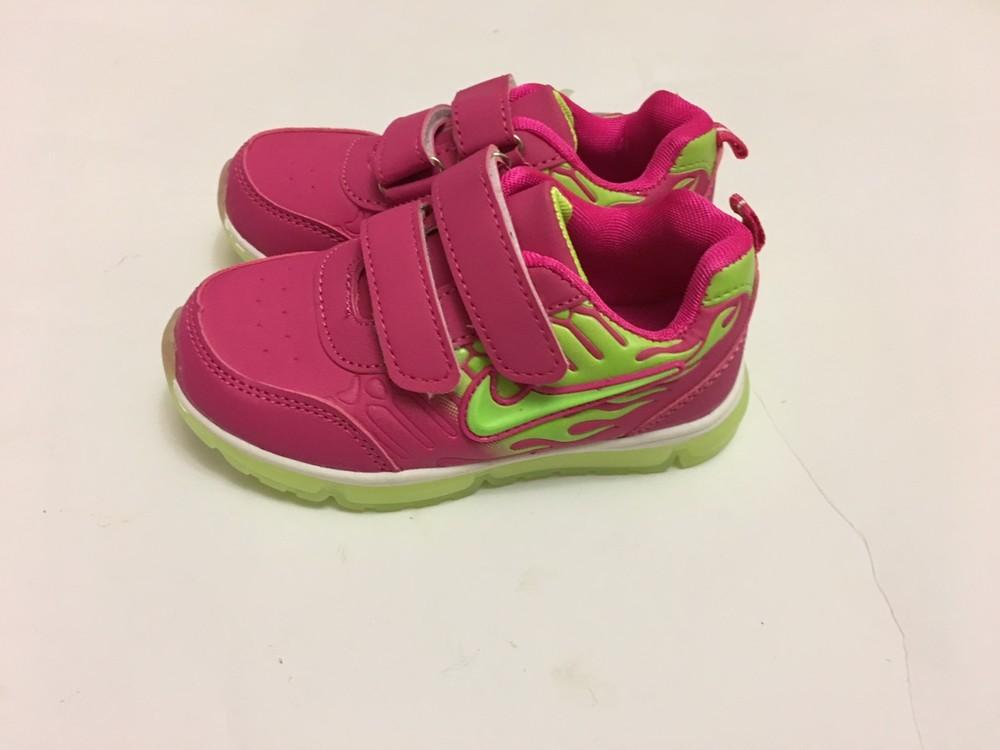 Кроссовки розовые мальвина светятся фото №6