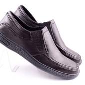 Туфли черные прошитые
