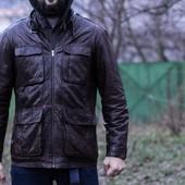 крутейшая мужская кожаная куртка sandro pozzi lather jacket размер XL (54)