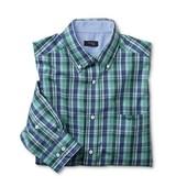 Рубашка, клетка, 100% хлопок, сине-зеленая ворот 39-40, tcm, tchibo
