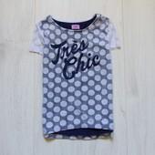 Стильная футболка-блуза для девочки. F&F. Размер 7-8 лет. Состояние: новой вещи