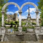 Картина по номерам Turbo Париж арка и вид на Эйфелеву башню VP518