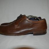 кожаные туфли под плетенку, р. 42