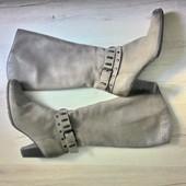 Кожаные сапоги еврозима 39р ( 25-25,5 см)
