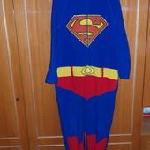 Пижама,слип,Supermen,флисовая,длина 140см.