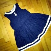 Платье I♥Next,отл.сост 2-4 года, гипюр-коттон, замеры внутри!!!