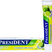 Детская зубная паста President 6-12л, 50мл Италия