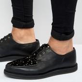 ASOS 100% кожа Стильные мужские туфли мокасины 43 р