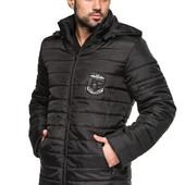 Мужская демисезонная удлинённая куртка с капюшоном Разные цвета весна осень
