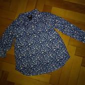 Легкая туника-рубашка H&M 2-3 года, хор.сост.замеры внутри!!!