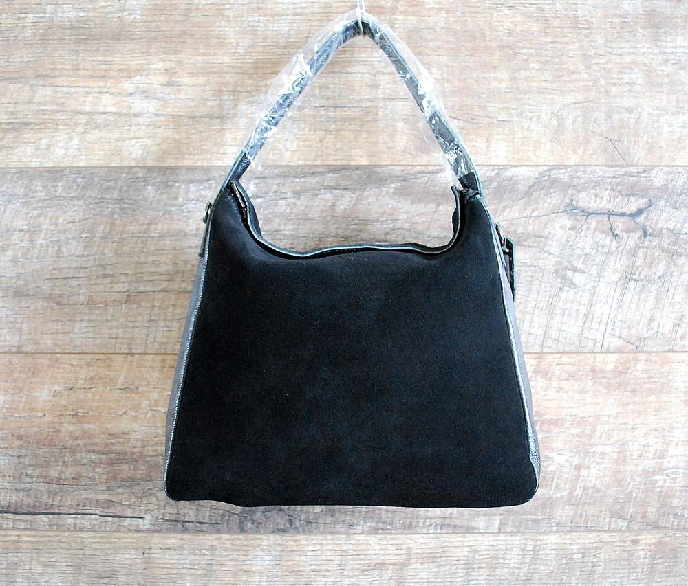 Натуральная замша! брендовая кожаная черная женская сумка coach фото №1 6781cb011ca