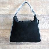 Натуральная замша! Брендовая кожаная черная женская сумка Coach