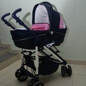 Коляска Cam Combi Family Duetto цвет розовый