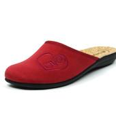100-NC-21S-016 тапочки женские домашние, материал-велюр, цвет-бордовый , р-р 36-41, Инблу