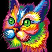 Картина по номерам Turbo Радужный котик VP603