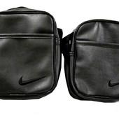 Мужская спортивная барсетка Nike (эко-кожа) сумка через плечо