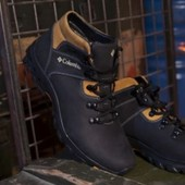 Распродажа ! Мужские Зимние Ботинки из синей кожи Columbia