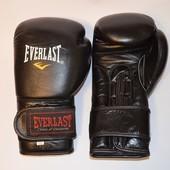 боксерские перчатки кожа Everlast
