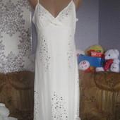 Літне платтячко молочного кольору з паетками  розмір 16\42
