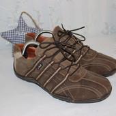42 27,5см Fila Натуральные кожаные кеды туфли на шнуровке