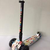Самокат трехколесный Sporting Scooter, очень надежный, до 80кг веса