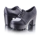 Закрытые туфли на среднем каблуке 9458-59 беж и черные