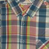 Тениска в клетку Livergy (германия) размер М наш 48-50