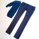 M-L, плотные брюки с низкой посадкой.