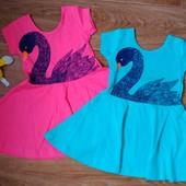 платье для девочки, Турция, яркие и оригинальные 2..7 лет.
