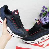 Кроссовки подросток Nike 95 dark blue 36-40р