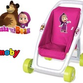 Smoby Прогулочная коляска для кукол Маша и Медведь 250201