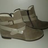 Новые Ботинки из Натуральной Замши 37 размера