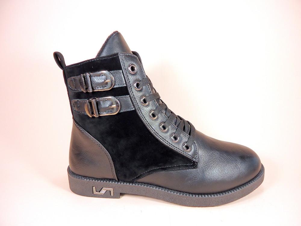 Женские демисезонные модные ботинки на низком ходу. размер 36-41. фото №3