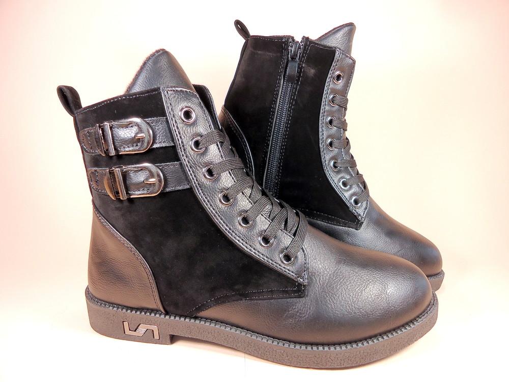 Женские демисезонные модные ботинки на низком ходу. размер 36-41. фото №4