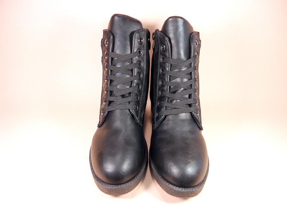 Женские демисезонные модные ботинки на низком ходу. размер 36-41. фото №5