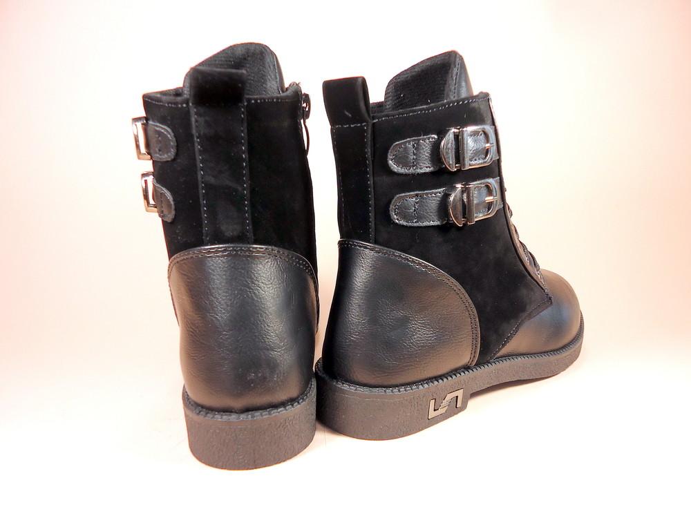 Женские демисезонные модные ботинки на низком ходу. размер 36-41. фото №6