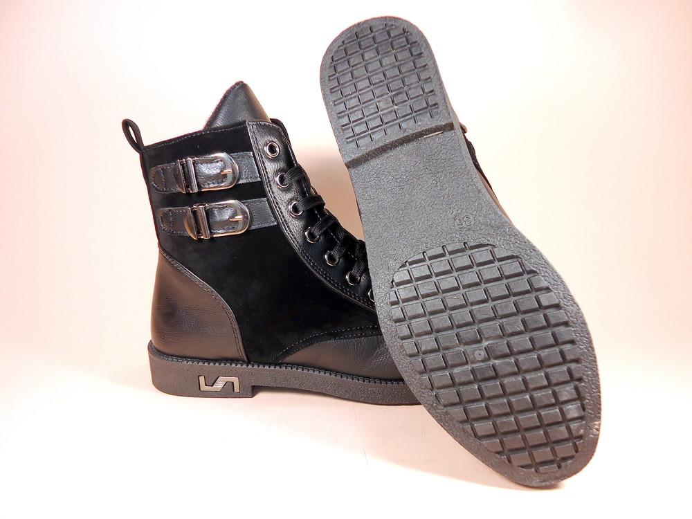 Женские демисезонные модные ботинки на низком ходу. размер 36-41. фото №8