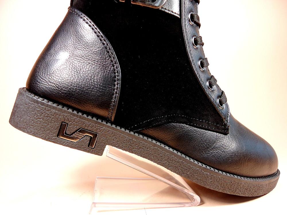 Женские демисезонные модные ботинки на низком ходу. размер 36-41. фото №9