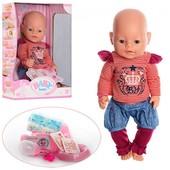 Кукла Baby born с аксессуарами, пупс пупс в джинсовых шортах, с закрывающимися глазами