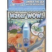 Melissa&Doug Многоразовая водная раскраска Подводный мир on the go water wow under the sea book