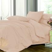 Комплект однотонного постельного белья, сатин №165