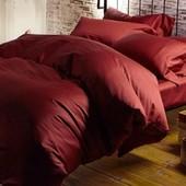 Комплект однотонного постельного белья, сатин №23