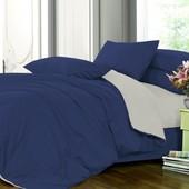 Комплект однотонного постельного белья, сатин микс №4052+№251