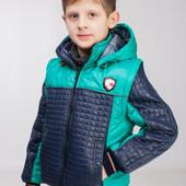 Демисезонная куртка - жилетка для мальчика 122-158 р.