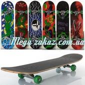 Скейтборд спортивный Profi 0322-4, 6 видов: алюминиевая подвеска, нагрузка до 40кг