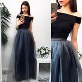 Костюмчик топ+юбка в расцветках можно отдельно