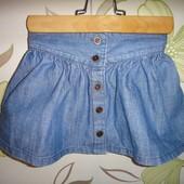 Джинсовая юбка Junior J на пуговицах 18-24 мес, 92 см