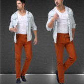 Мужские брюки слегка зауженные к низу Mr Pick, размер 32/33, новые