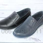 Подростковые кожаные туфли, 2 цвета