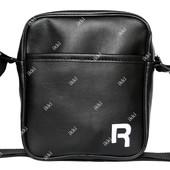 Удобная сумка для мужчин черная эко-кожа (R-06)